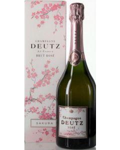 Champagne Deutz Rosé Sakura mit Etui