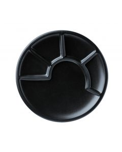 Spring Fondue-Teller Chinoise schwarz 23cm
