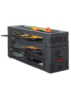 Spring Pizza Raclette 6 schwarz