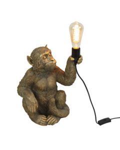 Affen Tischleuchte Abu/ gold