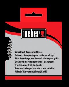 Weber Ersatzköpfe zu Bürste mit Metallschwamm