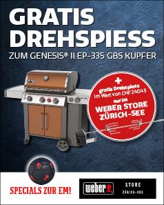 Weber Grill EM Aktion – Gratis Drehspiess